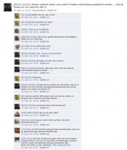 Facebookdiskussion über die Nachricht