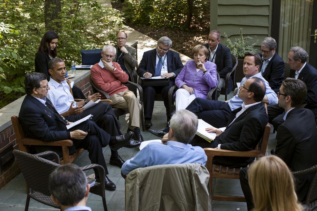 Obama im Kreis europäischer Staatschefs